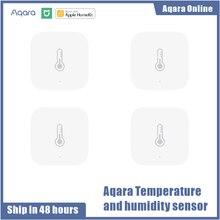 Sensor inteligente de pressão de ar aqara, sensor de umidade e temperatura sem fio aqara conexão zigbee com wifi para xiaomi home
