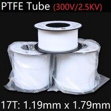 17T 1,19 мм x 1,79 мм PTFE трубка T eflon Изолированная жесткая капиллярная F4 труба высокая термостойкость шланг передачи 300 в белый