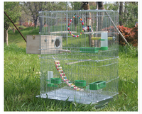 Large bird cage decoration for parrot metal bird house advanced breeding cage pigeon pet supplies myna parrot nest bird bed