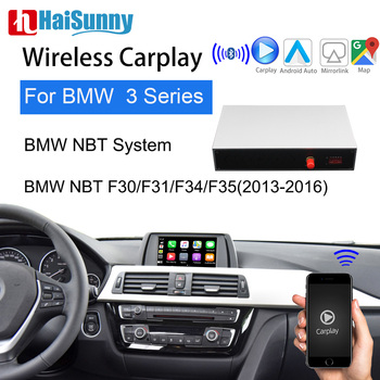 Wireless Carplay For BMW NBT 3Series F30- F35 E80 E91 E92 E46 2013-16 Support Multimedia IOS Android Google Maps Reverse camera image