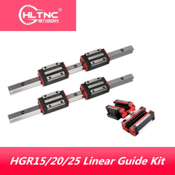2pc HGR15 HGR20 hgr25 Square Linear Guide Rail w+4pc HGH15CA hgh20ca hgh25ca /flang HGW15CC HGW20cc HGW25CA CNC Router Engraving - sale item Hardware