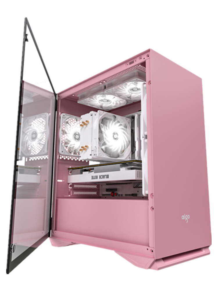 Gaming Pc Case Computer-Case Chasis Gamer Htpc Desktop Tempered-Glass Completo Pink Darkflash
