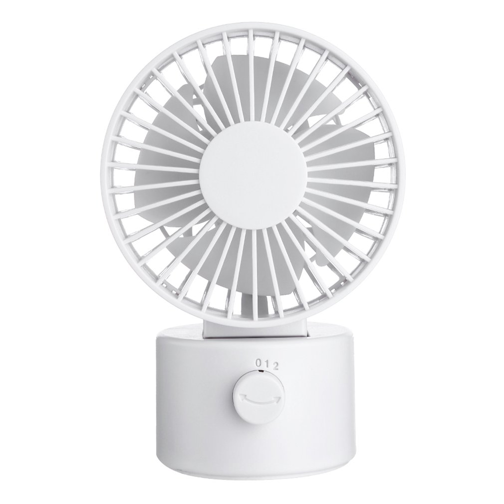 Shaking Head Usb Desktop Fan Abs + Pp + Electronic Components Rechargeable Usb Cooling Fan For Office 1 Set