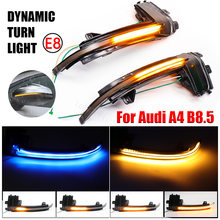For Audi A3 8P A4 A5 B8 Q3 A6 C6 4F S6 SQ3 A8 D3 8K Water Blink Dynamic Flowing Side Mirror LED Turn Signal Light