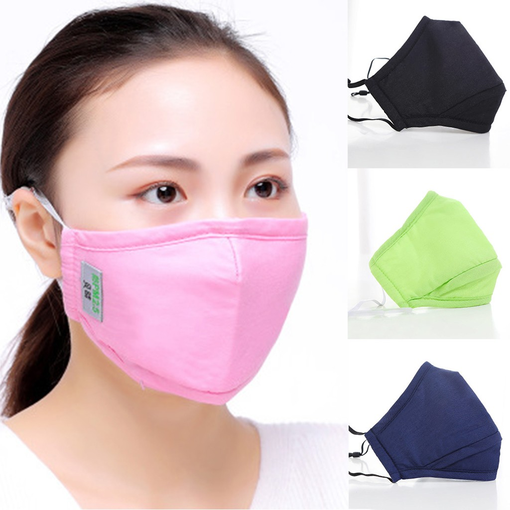 Dustproof Facemask Outdoor Unisex Mouth Topmask Washable Reusable Earloop Mouth-muffle Personal Health Care Dropshipping Maska