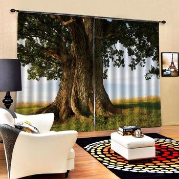 forest tree curtains Luxury Blackout 3D Curtains For Living room Bedding room Office stereoscopic curtains