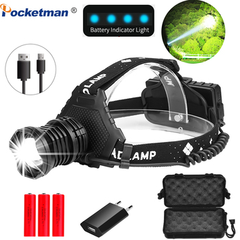 8000 Lumen XHP90.3 LED Headlight XHP90.2 USB Rechargeable Headlamp Use 18650 Battery XHP50.2 Powerful Zoomable Head Torch 1
