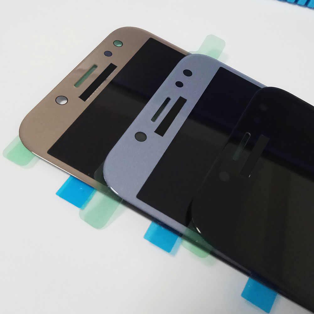 سوبر AMOLED LCD استبدال عرض لسامسونج غالاكسي J5 برو 2017 J530 J530F SM-J530F LCD تعمل باللمس Tela محول الأرقام الجمعية