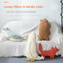 50CM/80CM Height Fox Peluche Gigante Toys Teddy Bear Soft Swiezaki Kawaii Plush Duck Girls Whale Pillow
