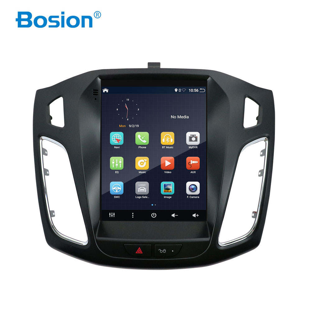 Bosion Car Radio For <font><b>Ford</b></font> <font><b>Focus</b></font> 3 Mk 3 Tesla screen Tesla style 2011-2019 Car Multimedia Video Player <font><b>Navigation</b></font> GPS Android 10 image