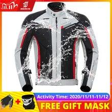 HEROBIKER chaqueta impermeable para motocicleta para hombre, chaqueta de Moto a prueba de viento, ropa de carreras, protección para motocicleta