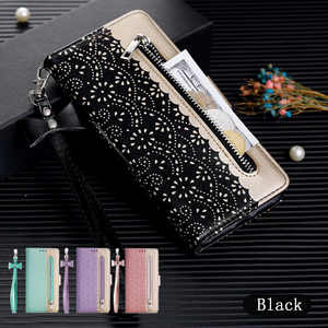 Image 1 - LLZ.COQUE Magnetic Leather Wallet Phone Case for IPhone X XS MAX XR 11 Pro Max 6 6S 7 8 Plus 5S 5 SE 2020 Zipper Flower Cover