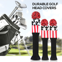 3 Pcs Golf Head Covers Set Wood Outdoor Sports Camping Hiking with Numbers 1 5