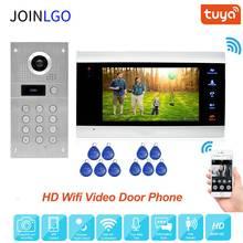 Tuya Smart App Remote Unlock Wifi Ip Video Deurtelefoon Video Intercom System Bewegingsdetectie Code Toetsenbord Rfid Camera Gratis schip