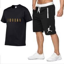 2021 nova camiseta quente casal casual tênis de corrida verão shorts de manga curta 2 peças conjunto treino camisolas esporte