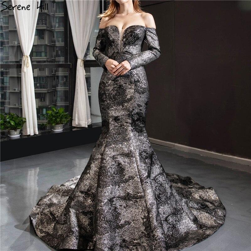 Black Silver Mermaid Long Sleeves