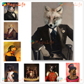 Винтажный постер в скандинавском стиле с изображением животных, кошки, собаки, настенные картины для гостиной, домашний декор, настенная Ка...