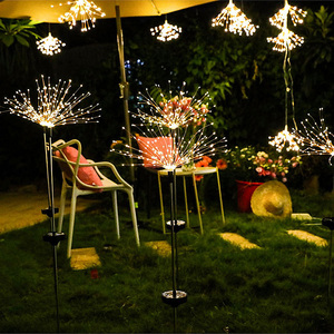 New Solar LED Lights Outdoor Lawn Light Waterproof Ground Lamps Grass Fireworks Garden Lighting