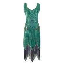 Vestido de lantejoulas vintage frisado flapper vestidos feminino great gatsby charleston fringe vestidos