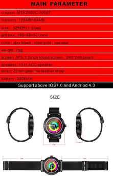 K88H Plus reloj inteligente pantalla HD Monitor de ritmo cardíaco podómetro rastreador de Fitness hombre reloj inteligente conectado para IPhone Android