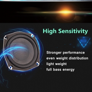 Image 3 - LEORY New Upgrade 5 inch 50W 8 ohm Magnetic Speakers High Sensitivity Super Bass Subwoofer Car Speaker Horn Accessories