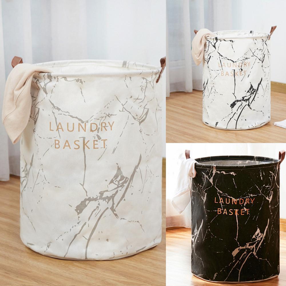 Laundry Basket Extra Large Household Laundry Bucket Canvas Sheets Toy Storage Bag Folding Storage Box Laundry Foldable #3S19#F