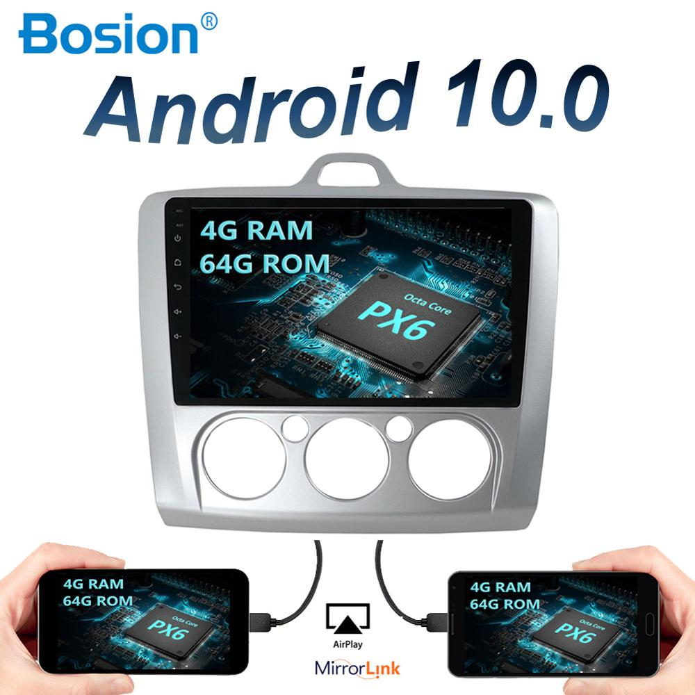 4G RAM+64G Android 10 Car Radio <font><b>Multimedia</b></font> Player ForFord <font><b>Focus</b></font> <font><b>Mk2</b></font> Mk3 2004 2005 2006 2007 2008 2009 2010 2011 GPS Navigation image