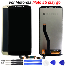 купить 100% Tested LCD For Motorola Moto E5 Play GO Display LCD touch Screen Digitizer Assembly Replacement Parts for Moto E5 Play LCD дешево