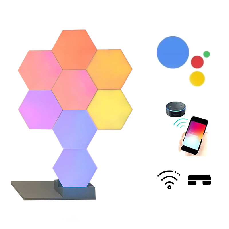 2019 DIY Cololight Quantum Novelty Lighting Creative Geometry Assembly Smart Light APP Home Panel Lamp For Life Smart Dropship