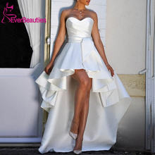 Vestido de noiva hi low beach Свадебные платья 2020 милое женское