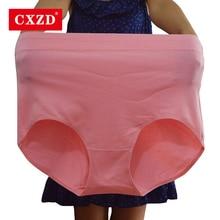 CXZD Fashion seamless High Waist Period Panties comfortable for women Cotton underwear lingerie plus