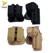 TOtrait Тактический IMI Защита Полимер удержания правой руки пистолет кобура для Beretta M9 92 96 страйкбол двойные аксессуары для журналов