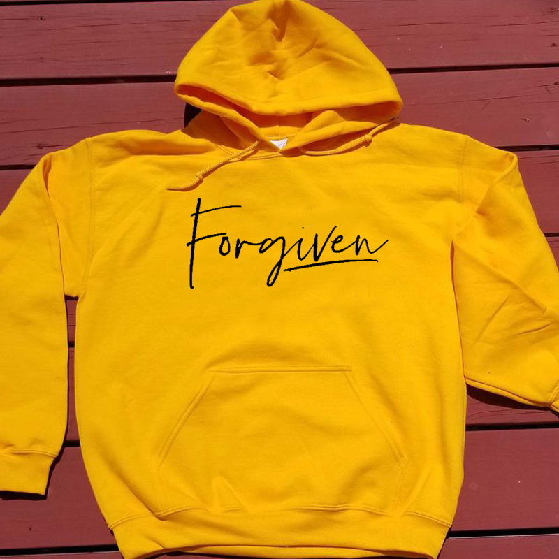 Forgiven Christian Hoodies Women Long Sleeve Hooded Jesus Sweatshirt Pullover Jumper Autumn Winter Womens Clothing Dropshipping