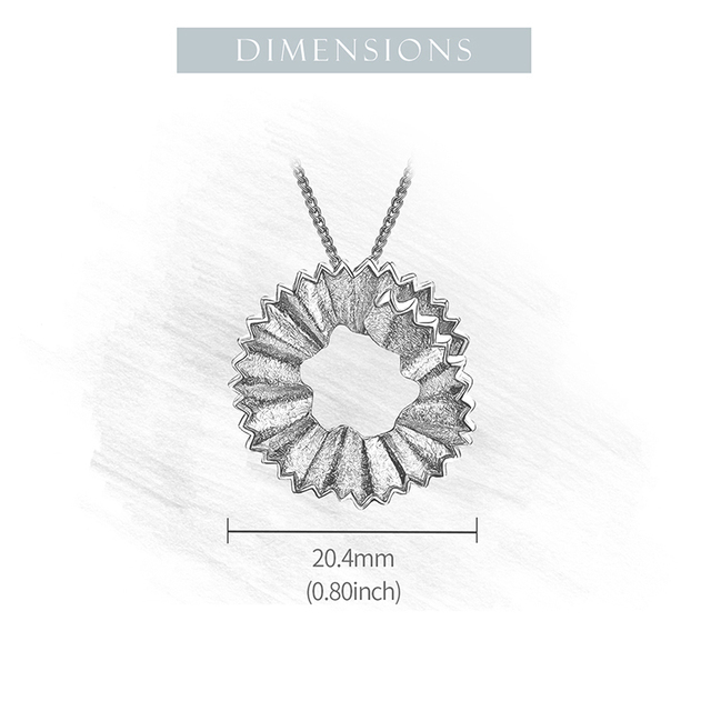 Lotus Fun Real 925 Sterling Silver Handmade Fine Jewelry Creative Pencil Shavings Design Pendant without Necklace for Women Gift 5
