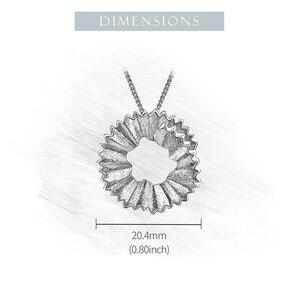 Image 5 - Lotus zabawy prawdziwe 925 Sterling Silver Handmade Fine Jewelry kreatywny ołówek wióry projekt wisiorek bez naszyjnik dla kobiet prezent