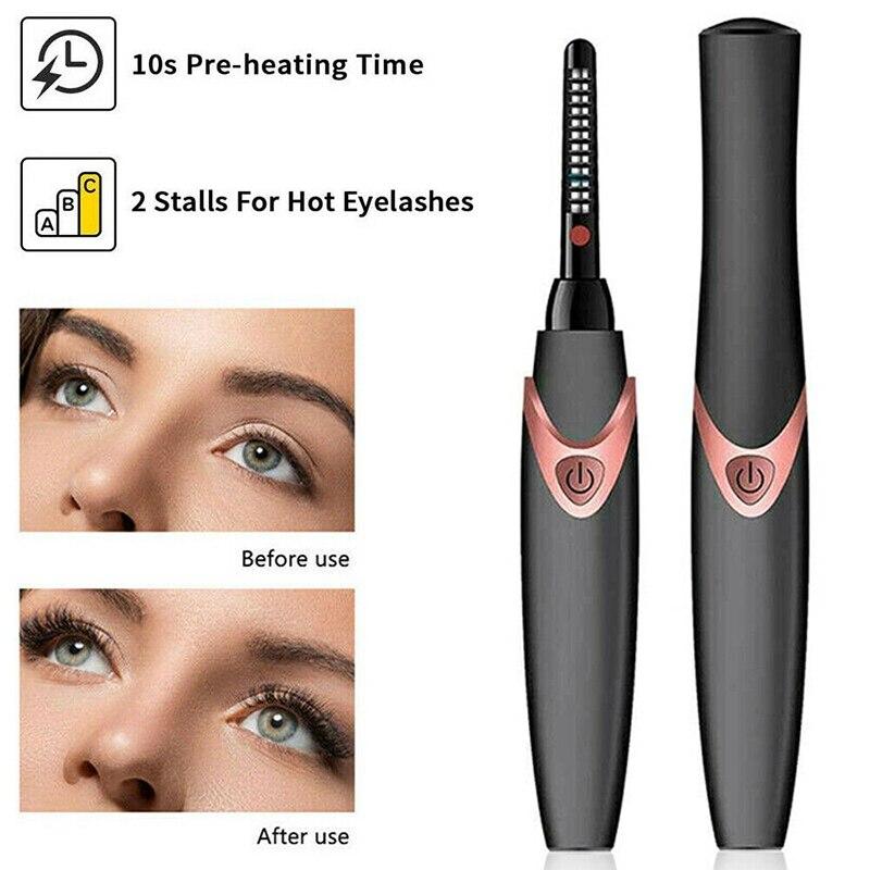 beleza maquiagem ferramenta mini elétrica aquecida cílios
