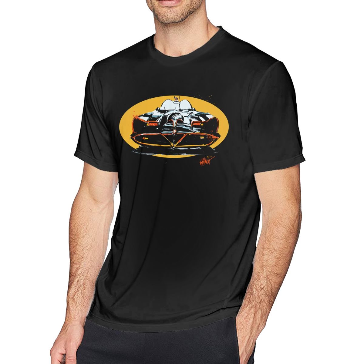 Bat T Shirt The Ultimate Bat Car T-Shirt Men Fun Tee Shirt Short Sleeves 100 Cotton Printed Oversized Tshirt
