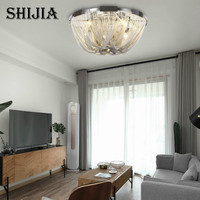 Art Deco Aluminum Chain of Ceiling Light Simple Style Modern Fixture For Living Room Bedroom Lighting