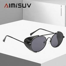 AIMISUV 2020Luxury Steampunk Sunglasses Men Quality Handmade Side Shiel