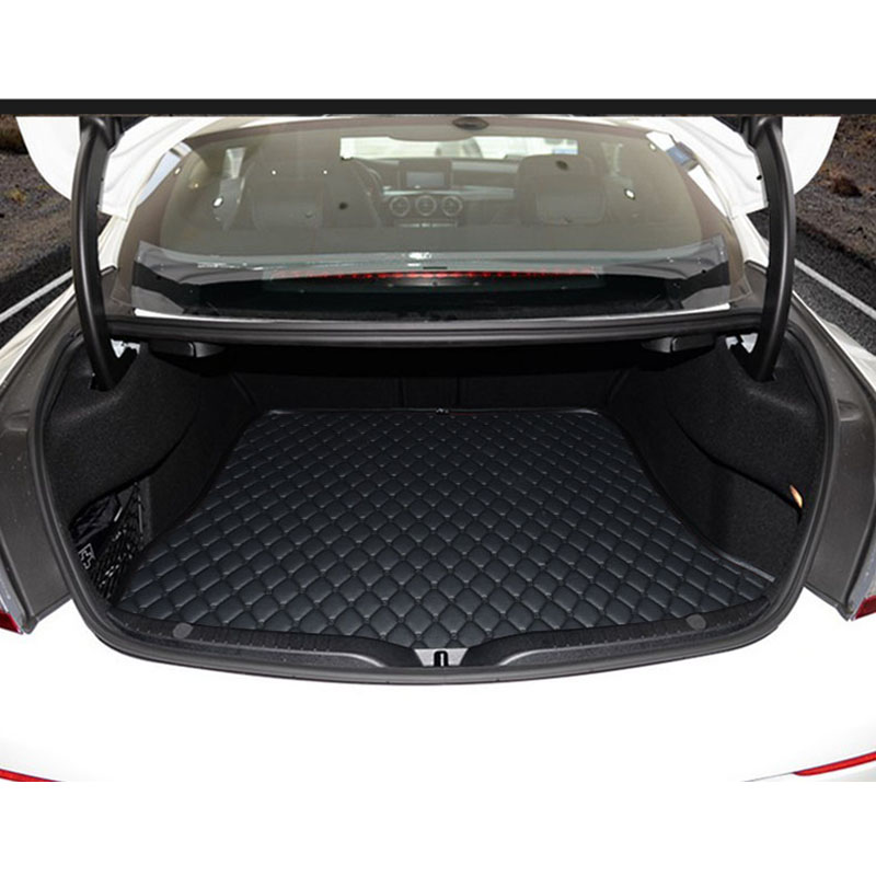lsrtw2017 fiber leather car trunk mat for mercedes benz c200 <font><b>c300</b></font> c260 c350 c400 2000-2020 2019 2018 2017 2016 <font><b>w205</b></font> w204 w203 image