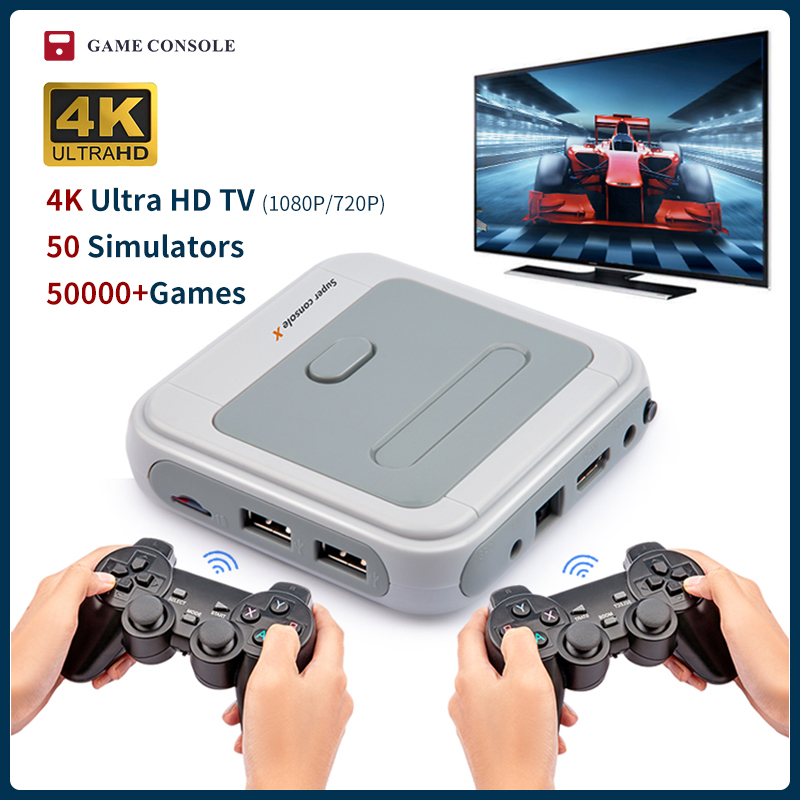 Ретро супер консоль X Mini/TV видео игровая консоль для PSP/PS1/MD/N64 WiFi Поддержка HD Out встроенные 50 имитаторов с более 50000 играми