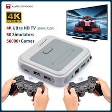 Console super retro do console x mini/jogo de vídeo da tevê para psp/ps1/md/n64 wifi suporte hd fora construído-em 50 emuladores com 50000 + jogos