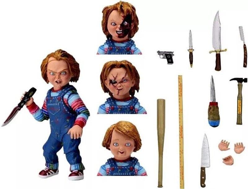 NECA Scary chucky Figure Toys Horror Movies Child s Play Horror Bishoujo Bride of Chucky Horror
