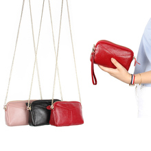 Genuine Leather Bags For Women Large Capacity Ladies tote purse High quality Chain Crossbody shoulder bag Female Dinner Handbag