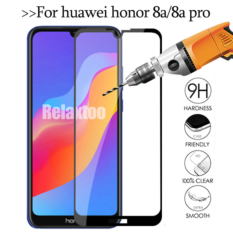 On Honor 8A 3D Glass For Huawei Honor 8a Protective Glass Honor8a Pro Honer 8 A A8 JAT-L41 JAT-LX1 6.09'' Safety Tempered Film
