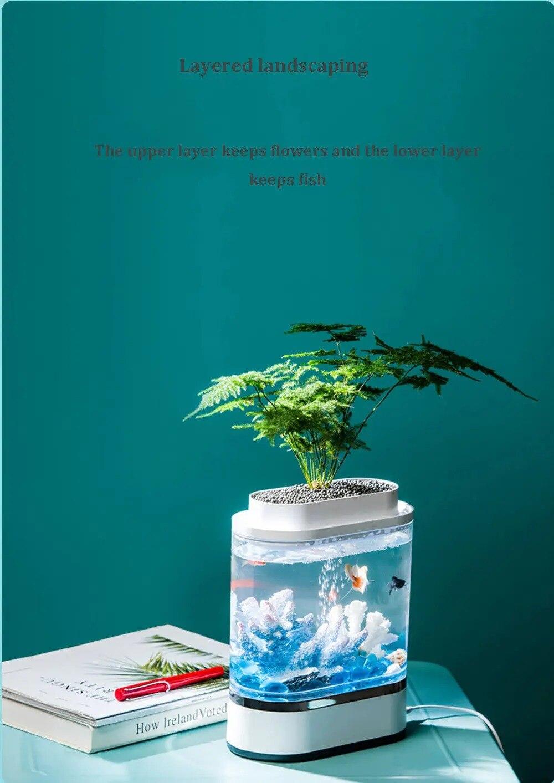 led com bomba de oxigênio filtro casa aquário