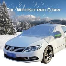 240x140cm cobertura do pára-brisas do carro calor sol sombra anti neve geada gelo protetor de poeira universal verão carro capa