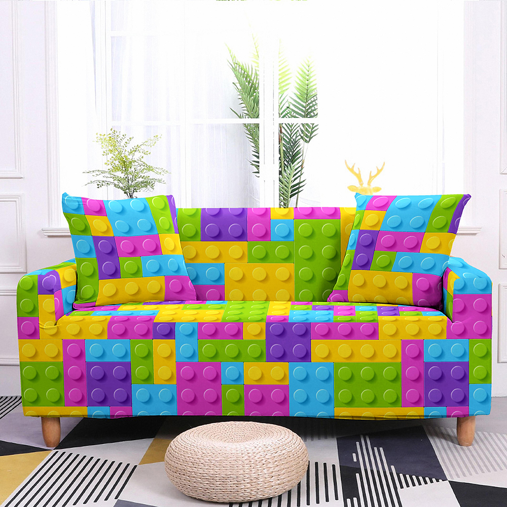 colorful elastic cover for sofa and