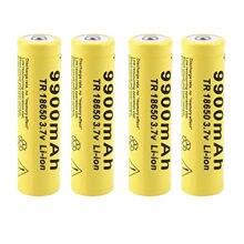 2/4/8 PIÈCES 3.7V 18650 9900mAh Batterie Rechargeable Li-ion Haute Capacité Batterie Pour Lampe De Poche Led torche Batterie litio batterie