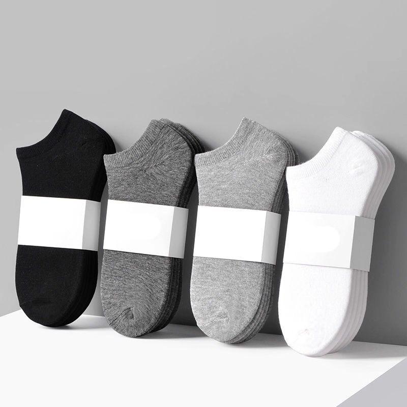 Универсальные мужские носки, однотонные удобные носки-невидимки с дезодорирующим эффектом, мужские летние тонкие низкие невидимые носки-л...